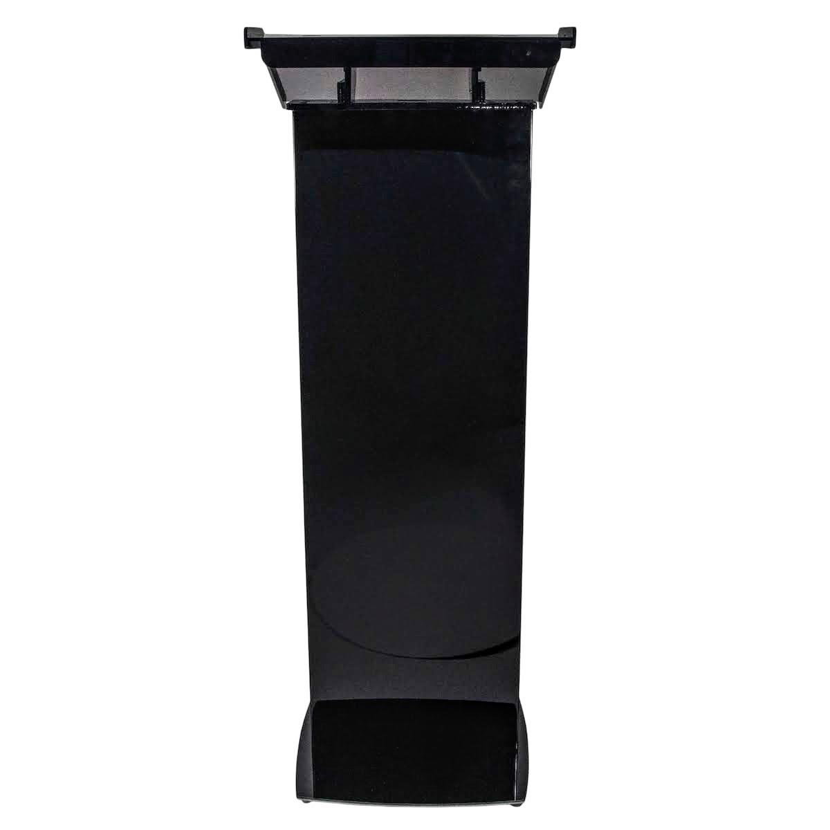 Pupitru negru, pentru conferințe, din plexiglas și aluminiu, JJ DISPLAYS