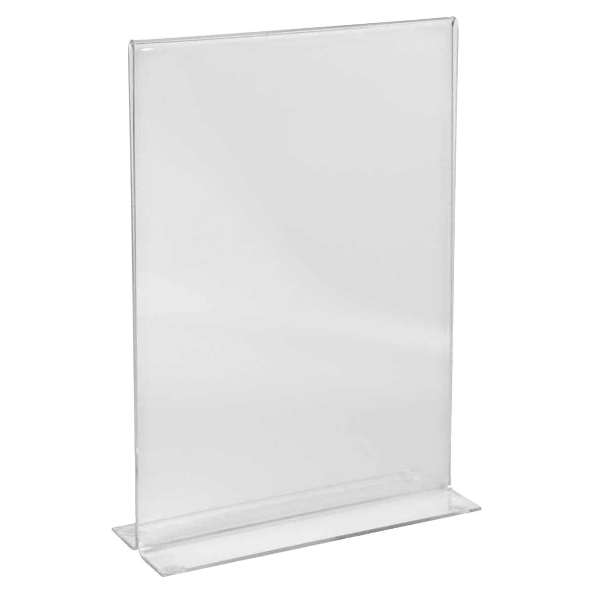 Suport meniu din plastic transparent pentru birou A5, JJ DISPLAYS, 148 x 210 mm, Landscape