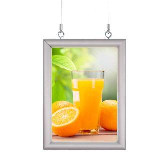 Casetă luminoasă pentru interior ultra slim cu leduri, dublă față expunere, iluminare pe o singură față A0, JJ DISPLAYS, 841 x 1189 mm