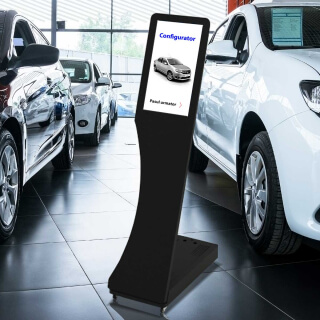 Stand L cu ecran touch LCD, 15 inch, JJ DISPLAYS