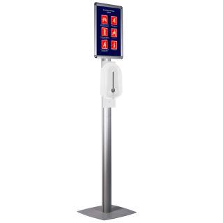 Stand cu dispenser automat pentru dezinfectare mâini, JJ DISPLAYS, dimensiuni la cerere