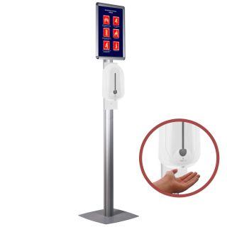 Stand cu dispenser automat pentru dezinfectare mâini, JJ DISPLAYS
