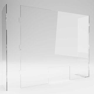 Protecție plexiglas în forma de U, demontabilă, JJ DISPLAYS, dimensiuni la cerere