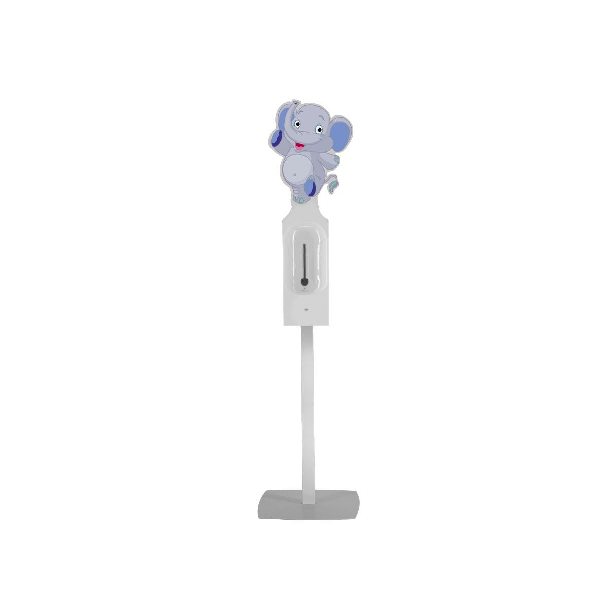 Stativ pentru copii cu header și dozator automat pentru dezinfectare mâini, JJ DISPLAYS