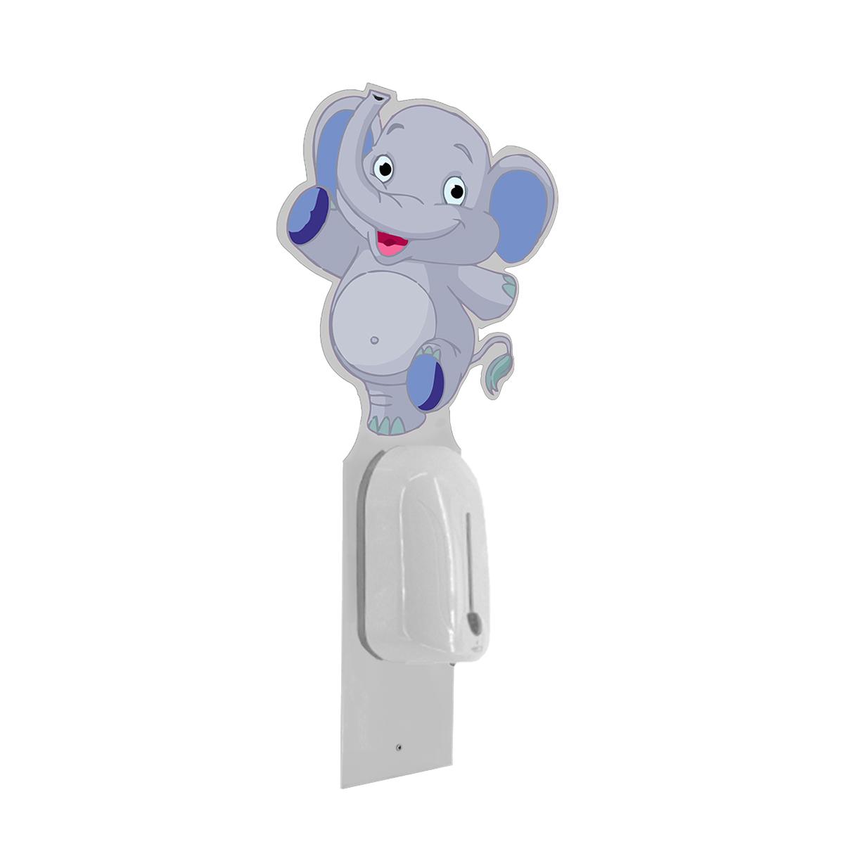 Suport de perete pentru copii cu dozator automat și header personalizat, JJ DISPLAYS
