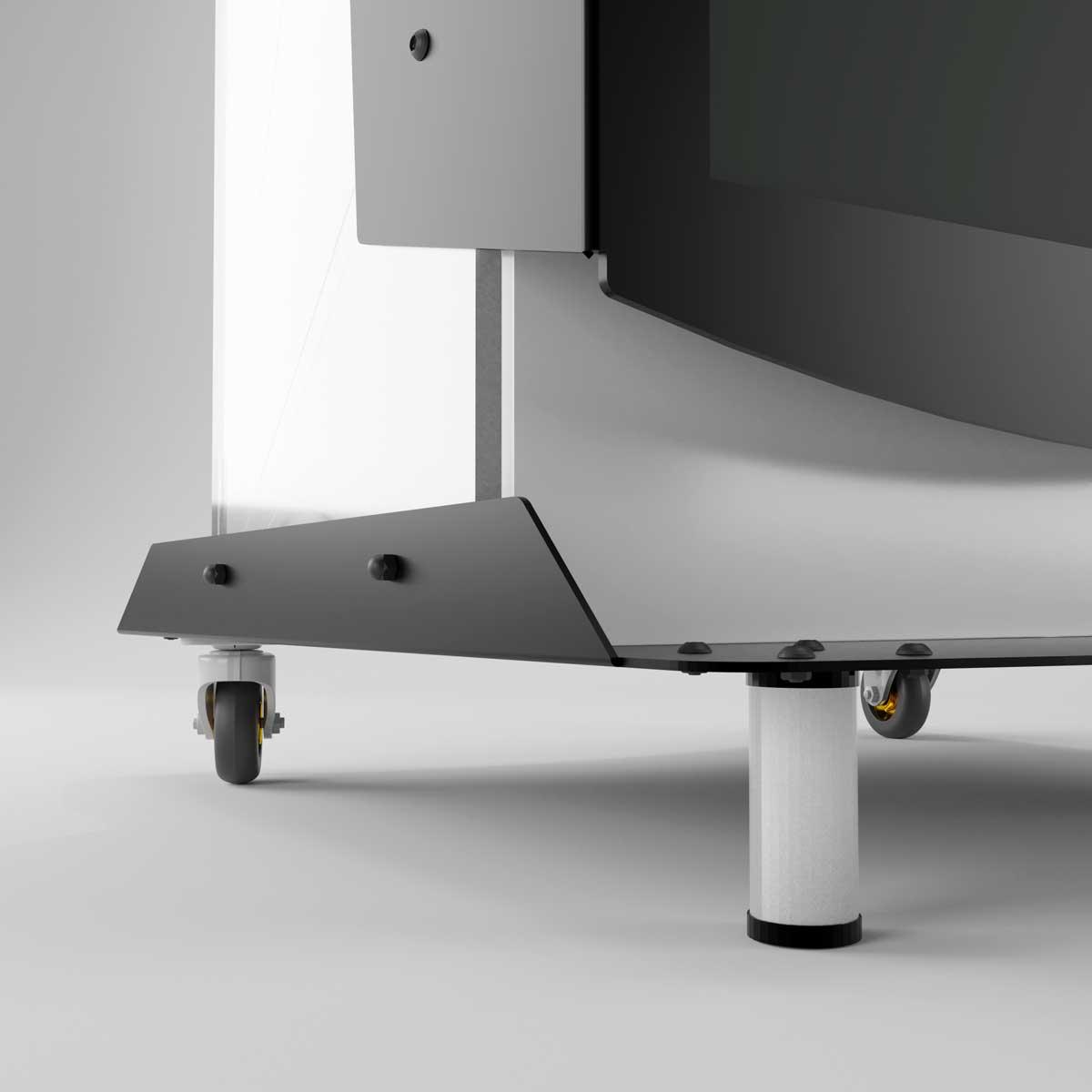 Pupitru Digital pentru conferințe, din tabla si plexiglas transparent, cu televizor, JJ DISPLAYS, dimensiuni la cerere