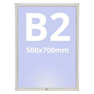 Rama click 35mm din aluminiu, securizată si rezistentă la exterior S5, JJ DISPLAYS, 500 x 700 mm