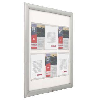 Avizier securizat cu NANO display, cu ramă care se poate expune și la exterior A4, JJ DISPLAYS, 210 x 297 mm, Landscape