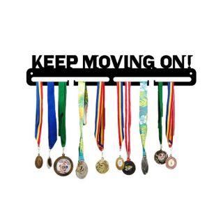 Suport medalii metalic KEEP MOVING ON, JJ DISPLAYS