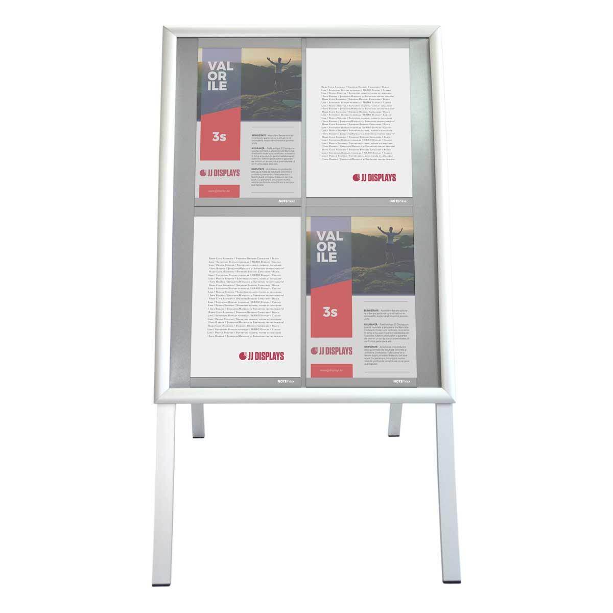 People stopper A board cu inserturi NANO DISPLAY S5, JJ DISPLAYS, 500 x 700 mm, Portrait