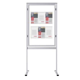 Infoboard clasic cu ramă securizată si inserturi NANO DISPLAYS S5, JJ DISPLAYS, 500 x 700 mm, simplă față