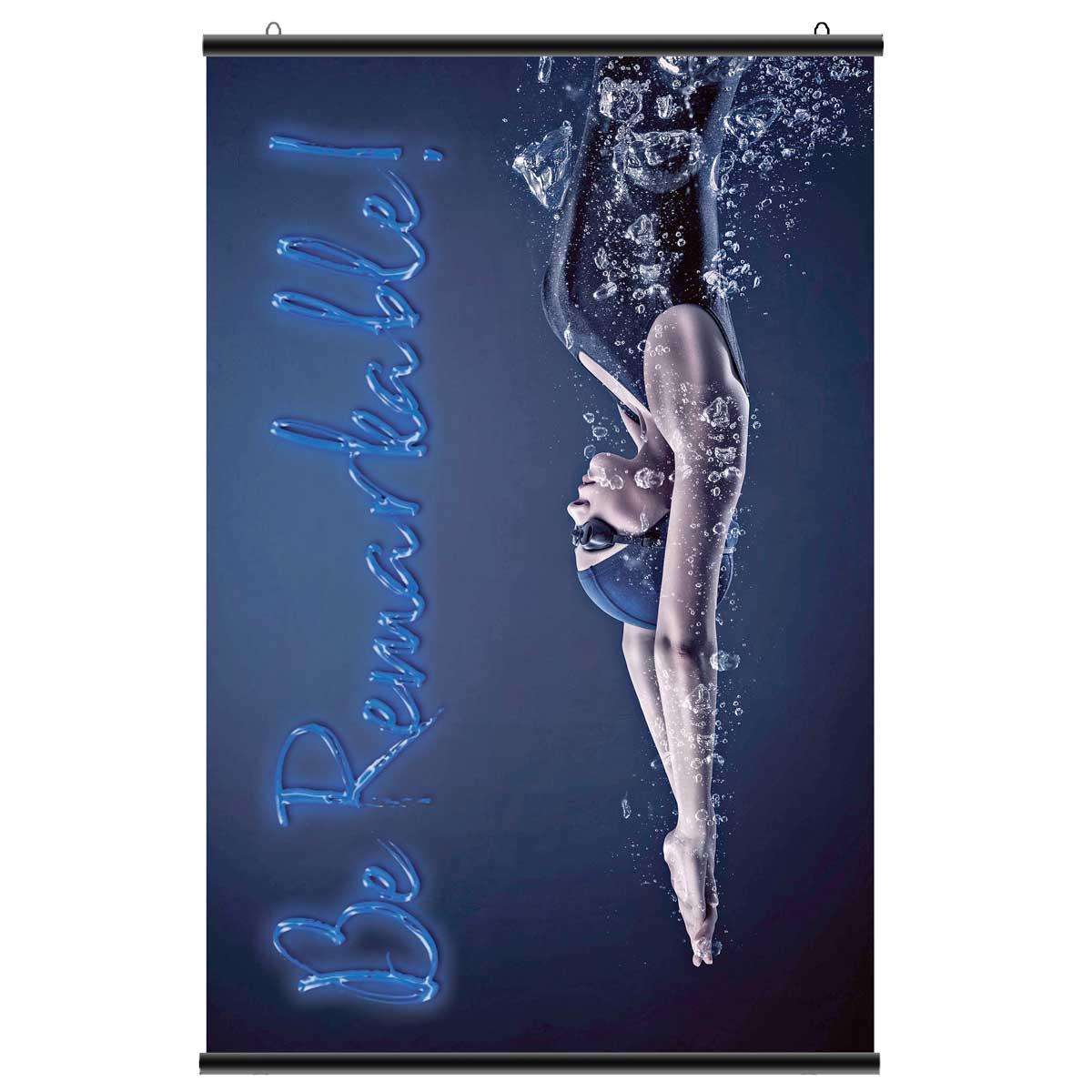 Suport poster tip hanger click NEGRU, JJ DISPLAYS, 420 mm