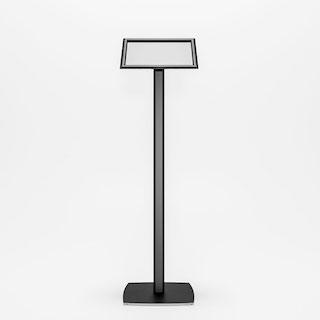 Menuboard negru, inclinat cu rama click pentru print A3, JJ DISPLAYS, 297 x 420 mm, Landscape