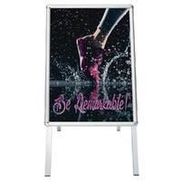 People Stopper, A board din profil aluminiu click  25mm cu colt rotund A2, JJ DISPLAYS, 420 x 594 mm