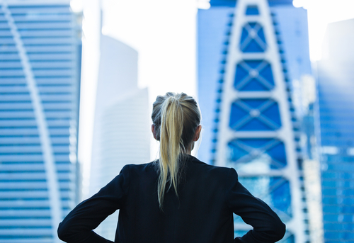 businesswoman-in-front-of-skyscrapers