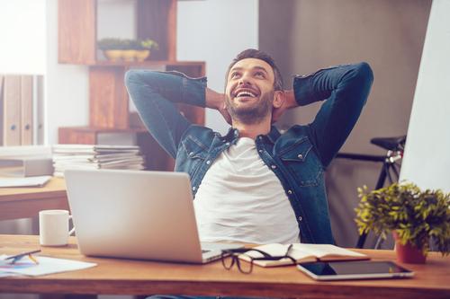 man-happy-at-desk