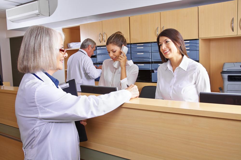health administration receptionist
