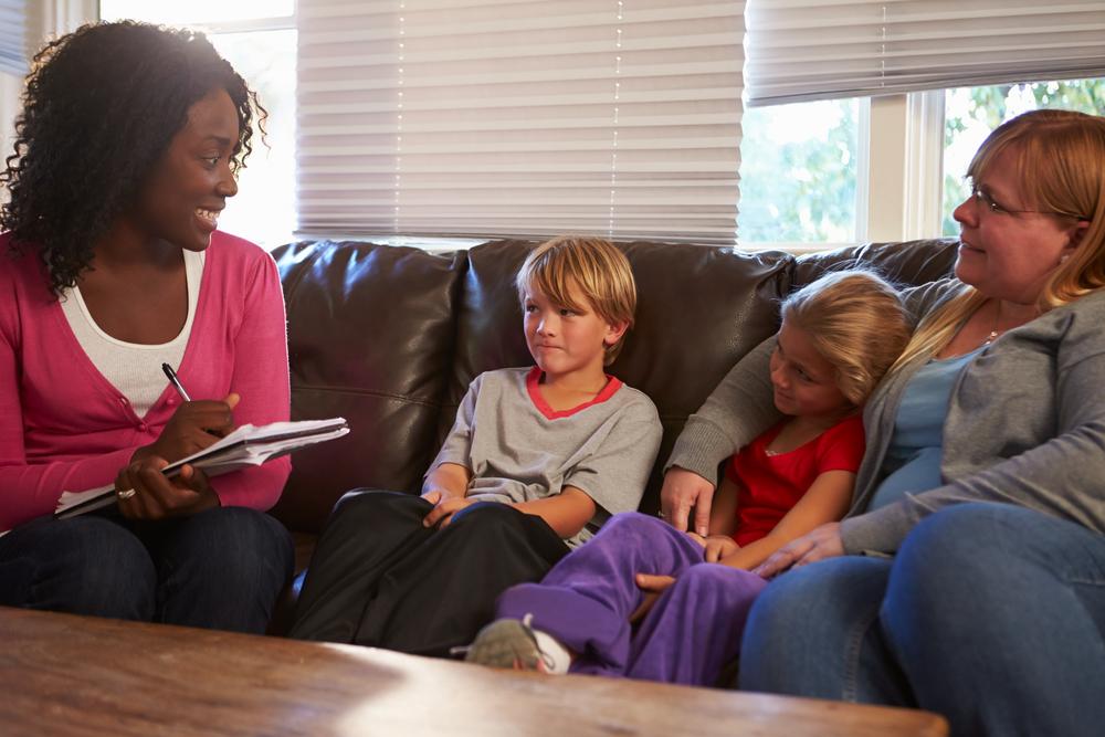 social worker helping kids