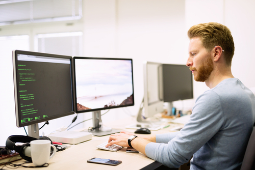 man-working-with-software