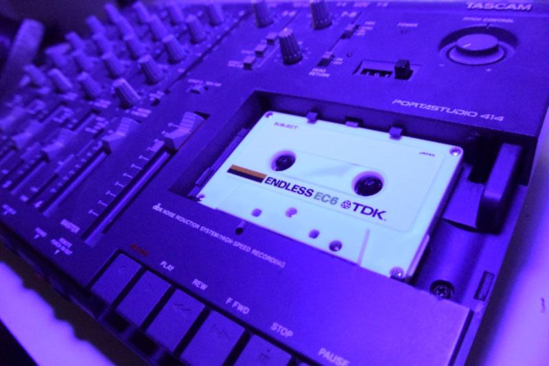 Tascam  Portastudio 414 and & TDK Endless loop tape