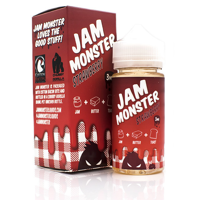 Jam Monster E-Liquid Strawberry Flavor