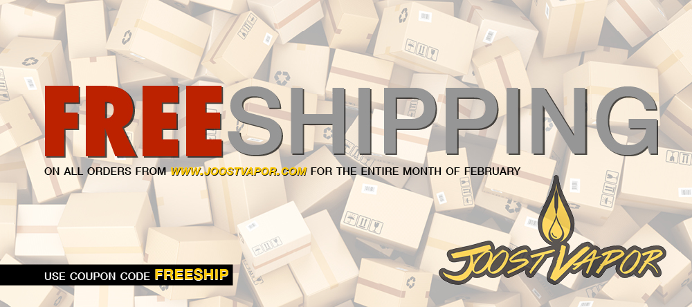 Joost Vapor Free Shipping month of February