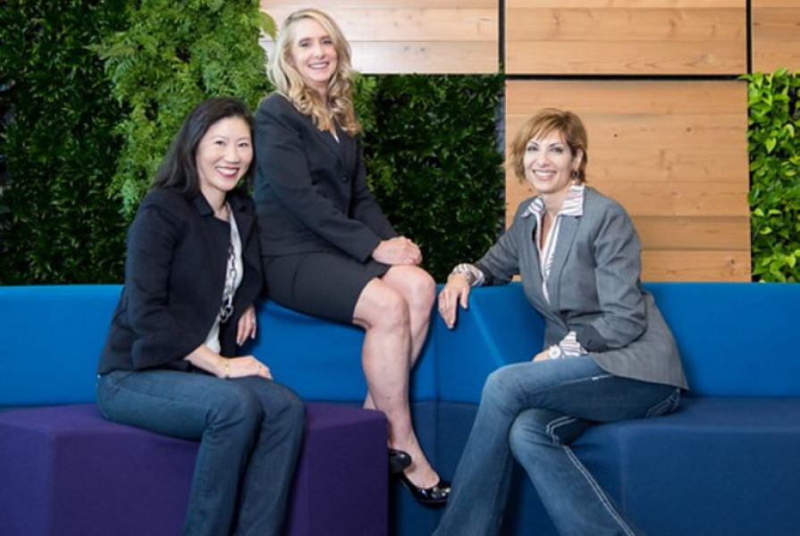 Mary O'Carroll, Head of Legal Operations at Google, Connie Brenton, Snr. Director of Legal Operations at NetApp Inc., and Steph