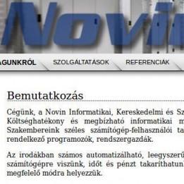 Novin Informatika - Molnár Balázs Programozó Budapest - I. kerület Budapest - XIII. kerület