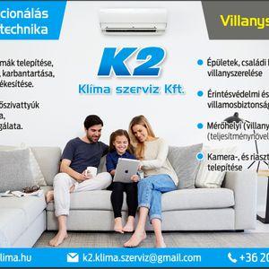 K2 Klímaszerviz Kft. - Kovács Zsolt Klímaszerelés Tiszatarján Ibrány