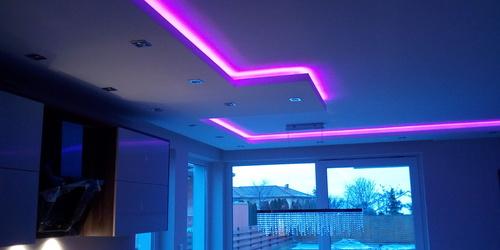 Rejtett LED hangulatvilágítás, változtatható színekben