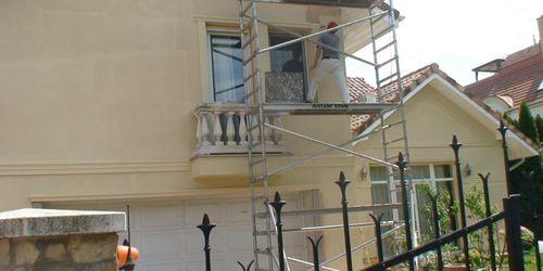 Római part külső homlokzat festés