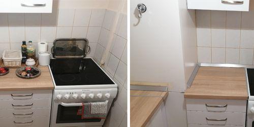 konyhapult toldás és vízvető felrakás