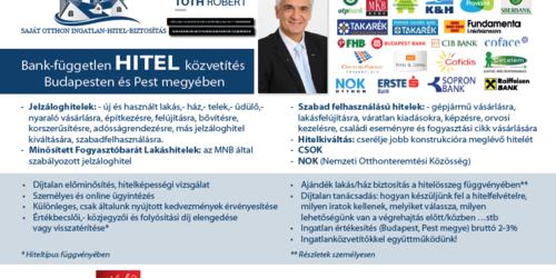 Hitelszakértő, pénzügyi tanácsadó Solymár Budapest - V. kerület