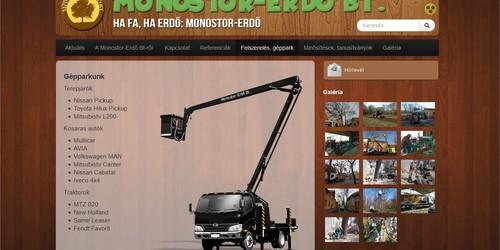 Monostor Erdő Bt honlapja