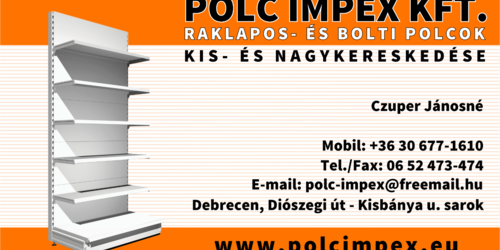 Polc Impex Kft névjegykártyája