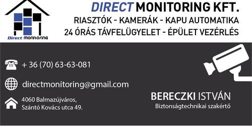 Bereczki István - biztonságtechnikus - névjegykártyája