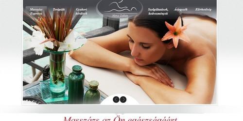 MasszázsExpressz.hu honlapja, online és offline marketing