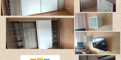 Gardrób szekrény és elemek falra szerelése