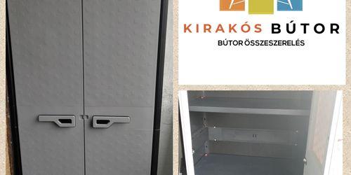 Tároló szekrény erkélyre összeszerelés, falhoz rögzítés