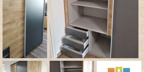 Lapraszerelt Tolóajtós szekrény összeszerelése