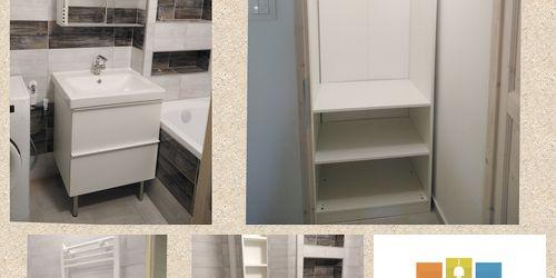 Fürdőszoba bútor és pax gardrób beszerelés