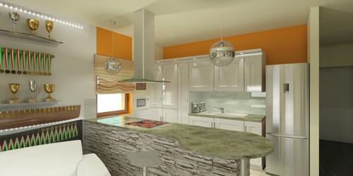 konyha és nappali tervezése