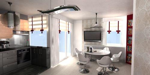 Modern lakás tervezése