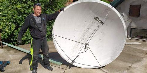 Veszélyes Antenna Leszerelés Alpin megoldással.