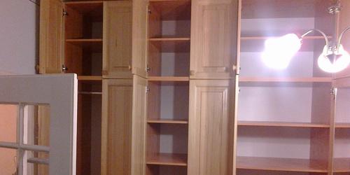 szoba szekrénysor borovi fenyőből