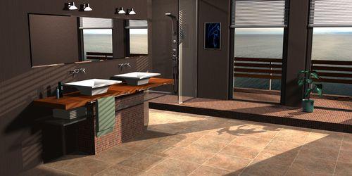 3D fotoreal terv-fürdő