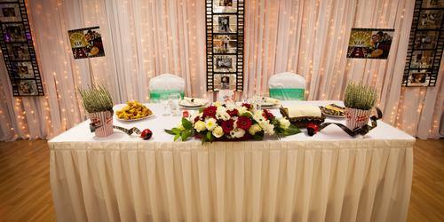 Fő asztal dekoráció