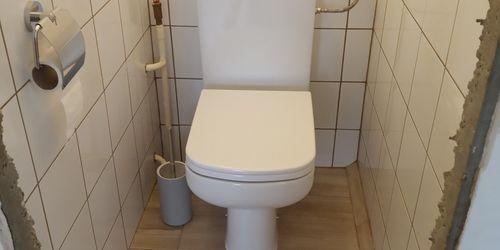 Kész állapotban a wc