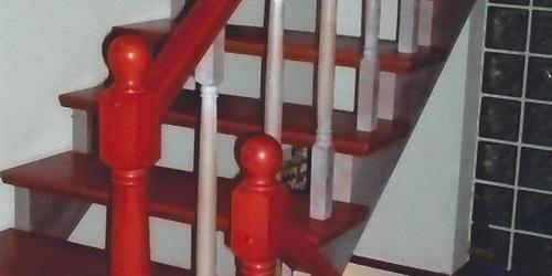 Pácolt bükk lépcső