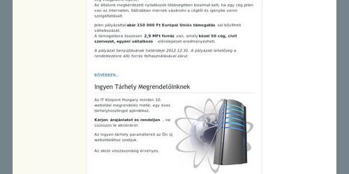 IT Központ Hungari hivatalos weboldala